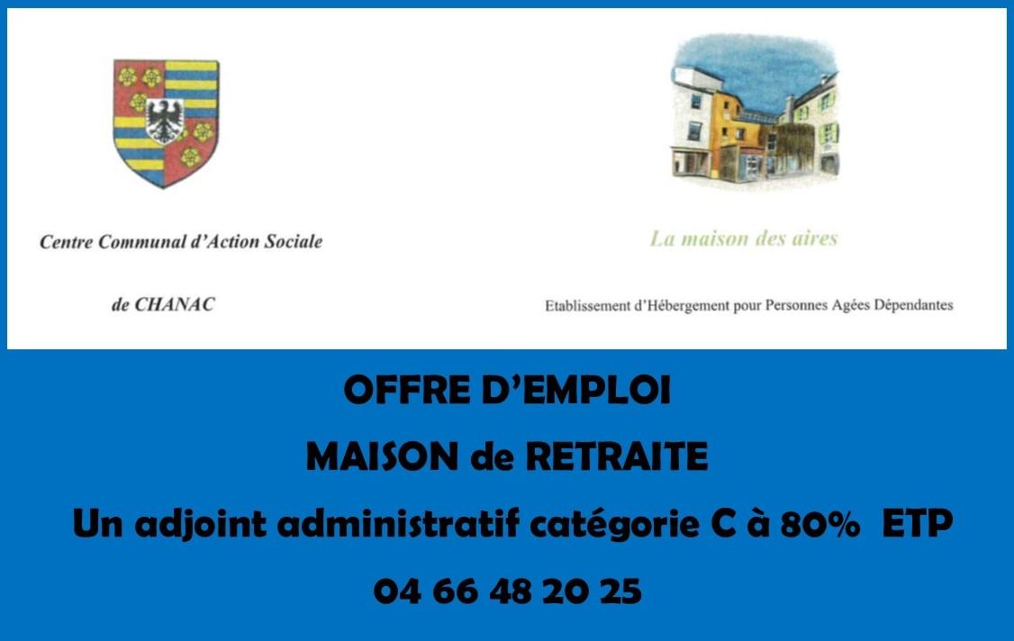 Maison de retraite  Mairie de Chanac
